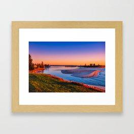 Sunrise on The Entrance Channel Framed Art Print
