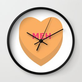 Meh Conversation Heart Wall Clock