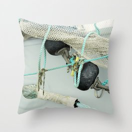 Fishermens Work Throw Pillow