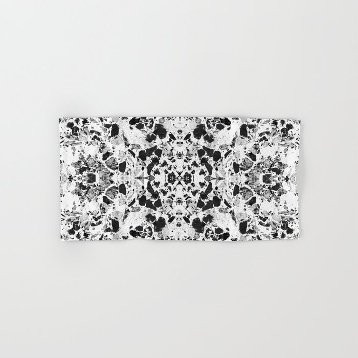 Beautiful Black and White Terrazzo Tile Hand & Bath Towel