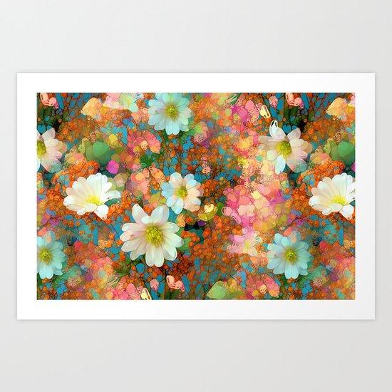 Spring Showers Fabulous Flowers Art Print
