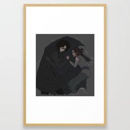 the shadow of needing| Framed Art Print