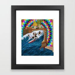 Channel Surfing Framed Art Print