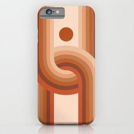 Abstraction_Sun_Rainbow_Bohemian_Minimalism_001 iPhone Case