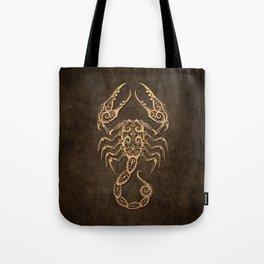 Vintage Rustic Scorpio Zodiac Sign Tote Bag
