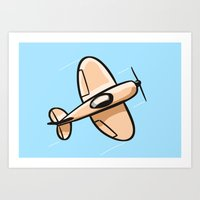 airplane Art Prints featuring Airplane by Rob Tijink