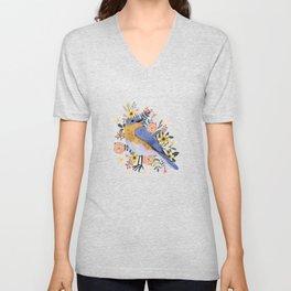 Blue Bird Unisex V-Neck