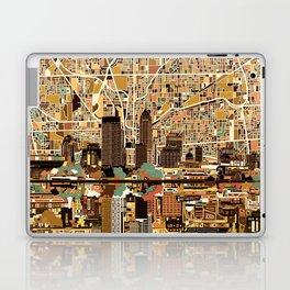 indianapolis city skyline orange Laptop & iPad Skin