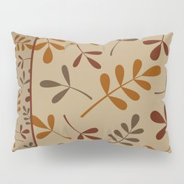 Fall Color Assorted Leaf Silhouettes II Pillow Sham