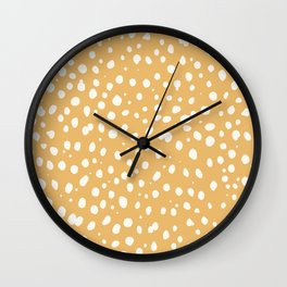 LEOPARD YELLOW Wall Clock