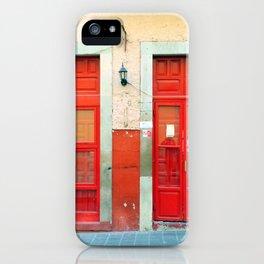 Red doors in Guanajuato Mexico iPhone Case