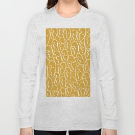 faces / mustard Long Sleeve T-shirt