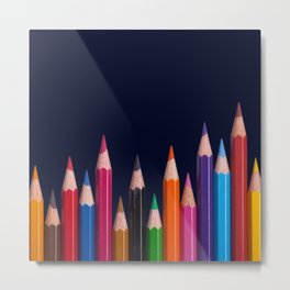 Color Pencil Metal Print