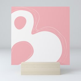 Abstract B-letter unique typography, Pink Square 40x40, Mini Art Print