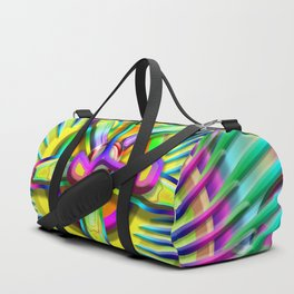 """Passiflora The """"Passion Flower"""" Psyhcedelic Abstract Duffle Bag"""
