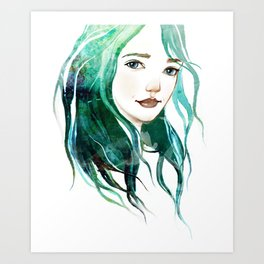 A mermaid Art Print