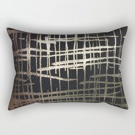 metallic grid Rectangular Pillow