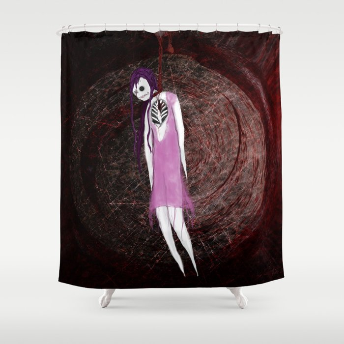 Pin Up - Heartstrings Shower Curtain