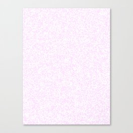 Tiny Spots - White and Pastel Violet Canvas Print