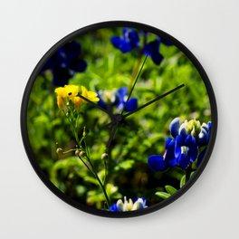 Bluebonnets VI Wall Clock