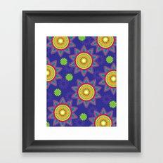 Moroccan Flower Purple Framed Art Print