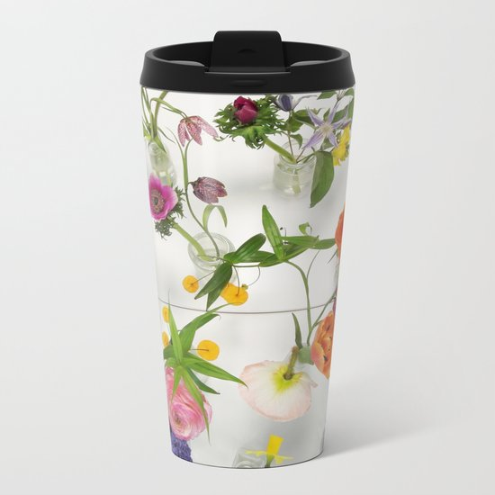 Spring Flowers - JUSTART Metal Travel Mug