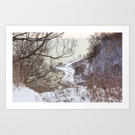 Scarborough Bluffs in Winter on December 27th, 2020. I Art Print