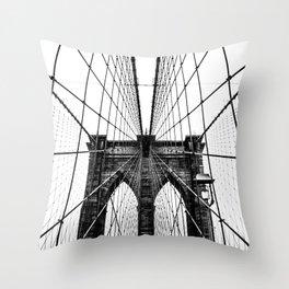 Brooklyn Bridge Web Throw Pillow