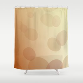SIMPLE DOTS BLUE ON WHITE Shower Curtain