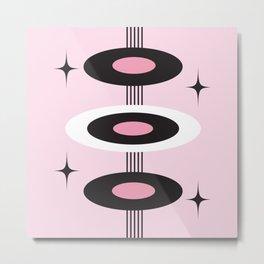 Retro Pink Metal Print