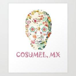 Cozuml Mexico Sugar Skull Gift Design Idea Art Print