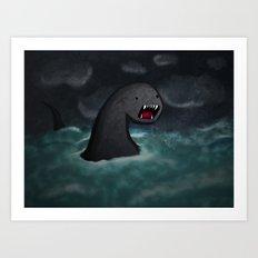 Mar Beast Art Print