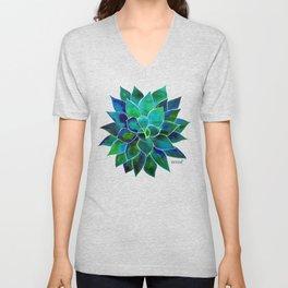 Blue Aloes Flower Unisex V-Neck