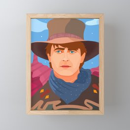 Back to the Future III Framed Mini Art Print