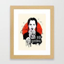 Wednesday The Addams family art Framed Art Print