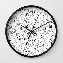 Ghosties in White Wall Clock