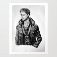 captain hook Art Prints featuring Captain Hook by Olivia Nicholls-Bates