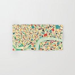 CITY OF LONDON MAP ART 01 Hand & Bath Towel