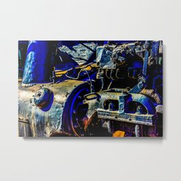 Mechanical Parts Of An Old Steam Engine Locomotive Metal Print