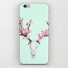 CHERRY BLOSSOM SKULL iPhone & iPod Skin