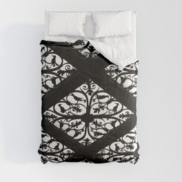 Lacey Black & White Pattern Comforters