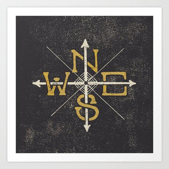 N.S.E.W.  Art Print