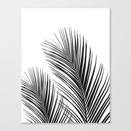 Tropical Palm Leaves #1 #botanical #decor #art #society6 Canvas Print