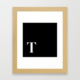 Initial T Framed Art Print