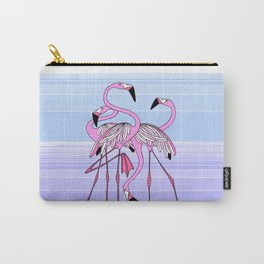 three and a half flamingos Carry-All Pouch
