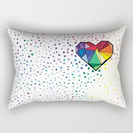 Colorful geometric heart Rectangular Pillow