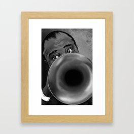 Louis Armstrong Framed Art Print