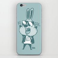 zuko iPhone & iPod Skins featuring Bunny Zuko by Johnny Cobalto