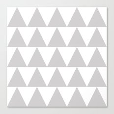 Grey Triangle /// www.pencilmeinstationery.com Canvas Print