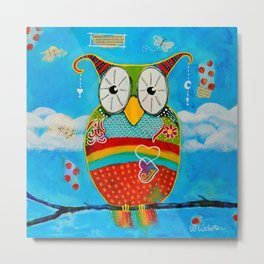 """Bohemian Owl"" Metal Print"